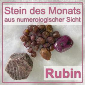 Stein des Monats - Rubin