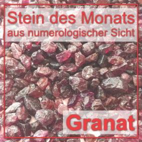 Stein des Monats - Granat