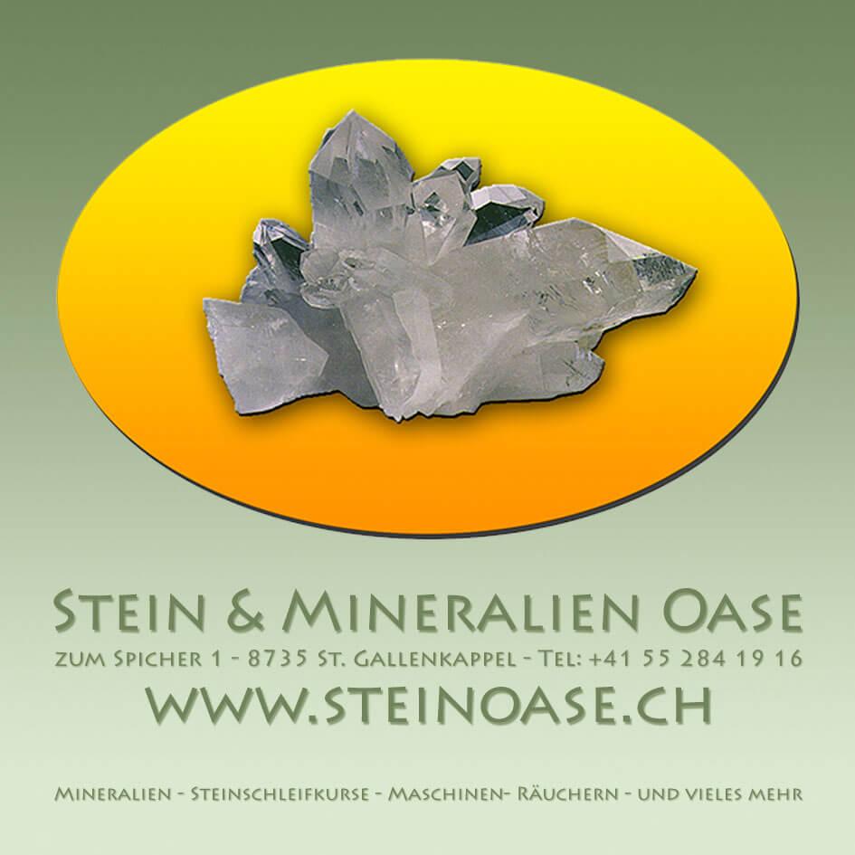 Stein & Mineralien-Oase Banner