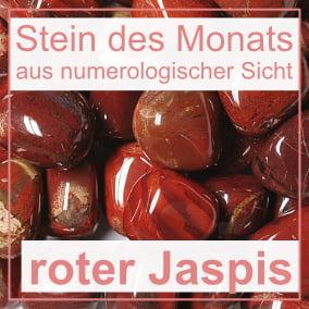 Stein des Monats - roter Jaspis
